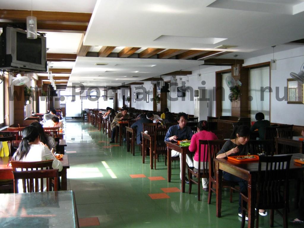 Столовая на 3 этаже Восточно-Китайского Педагогического Университета