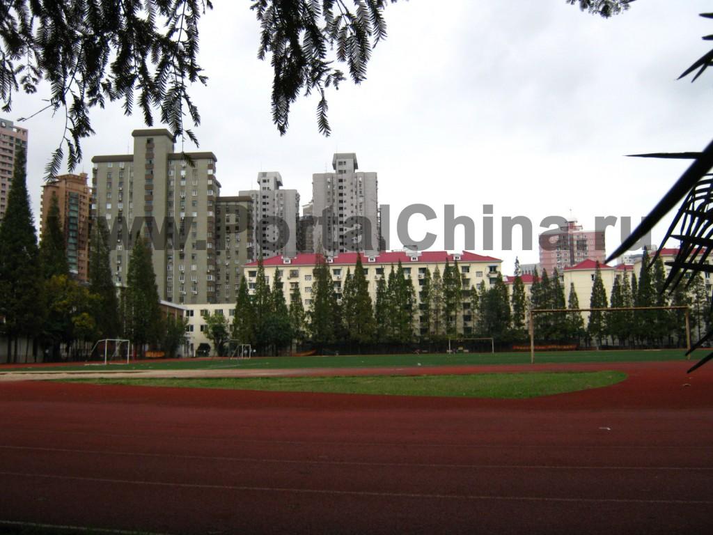 Спортивные площадки в Шанхайском Транспортном (Цзяотун) Университете