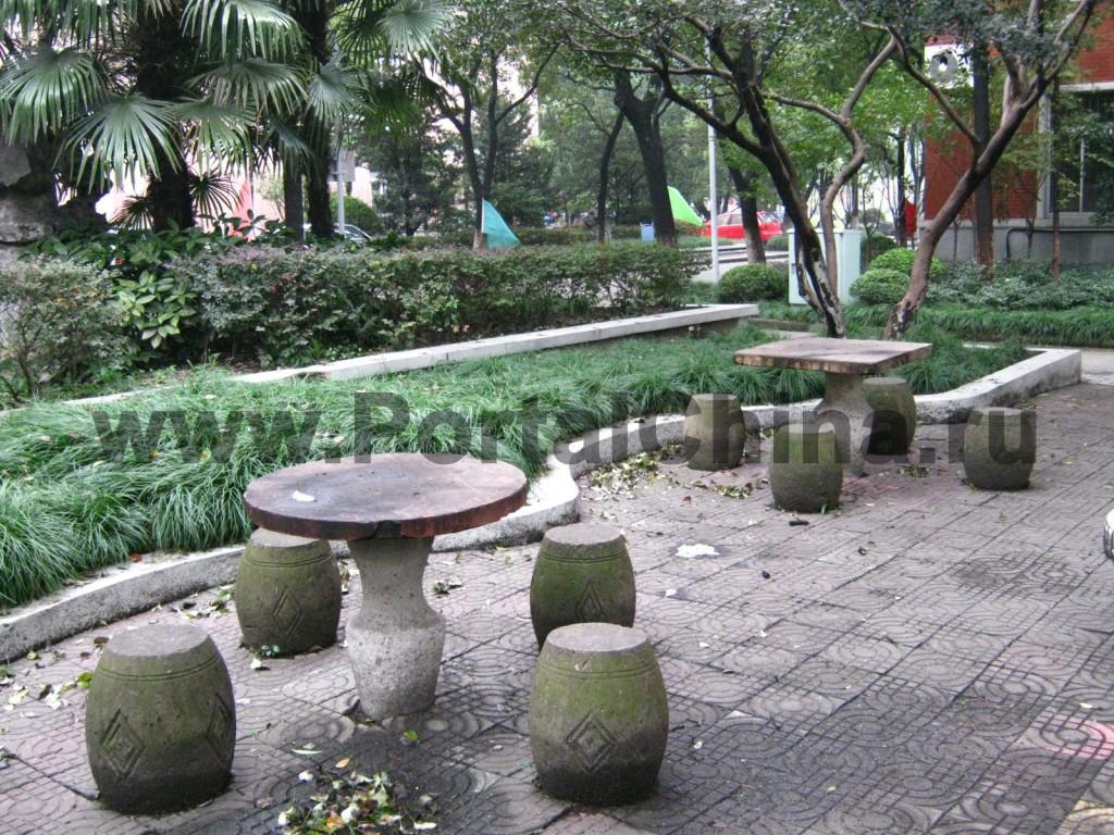 Зоны отдыха на территории Шанхайского Университета