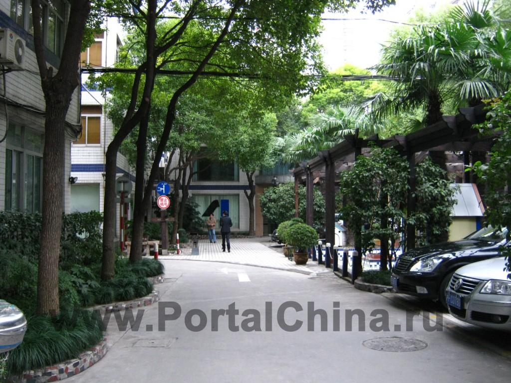 Зеленая территория Центра изучения китайского языка