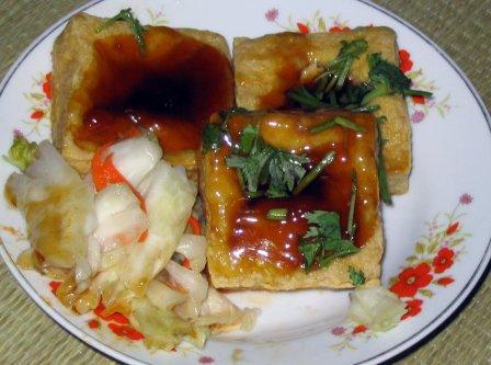 На фото: Stinky tofu