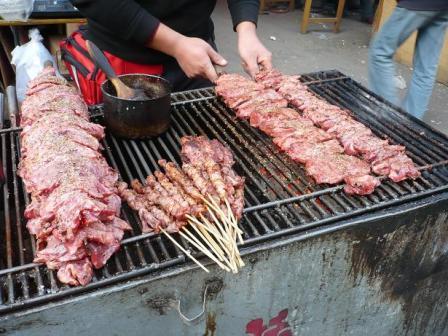 На фото: шашлыки Yang Rou Chuang